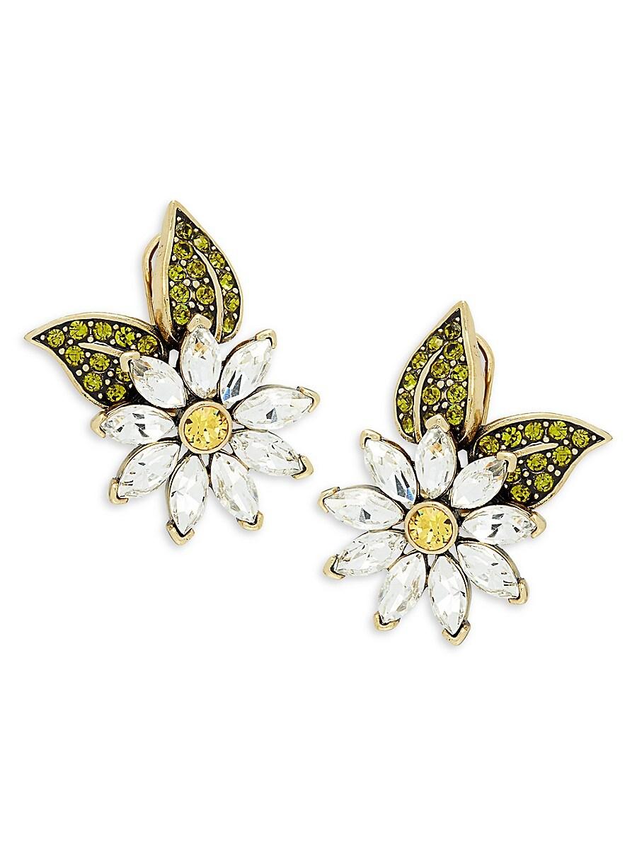 Women's Fun Flower Crystal Earrings