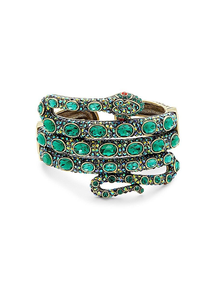 Women's Brass & Glass Crystal Serpent Bracelet