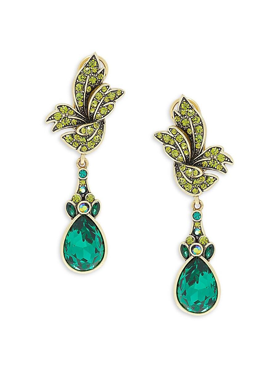 Women's Serpantine Goldtone & Crystal Earrings