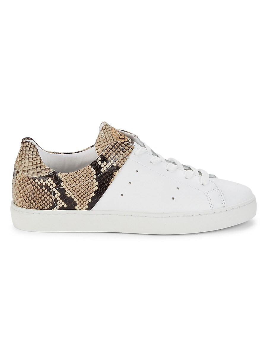 Women's Colorblock Lace-Up Leather Sneakers