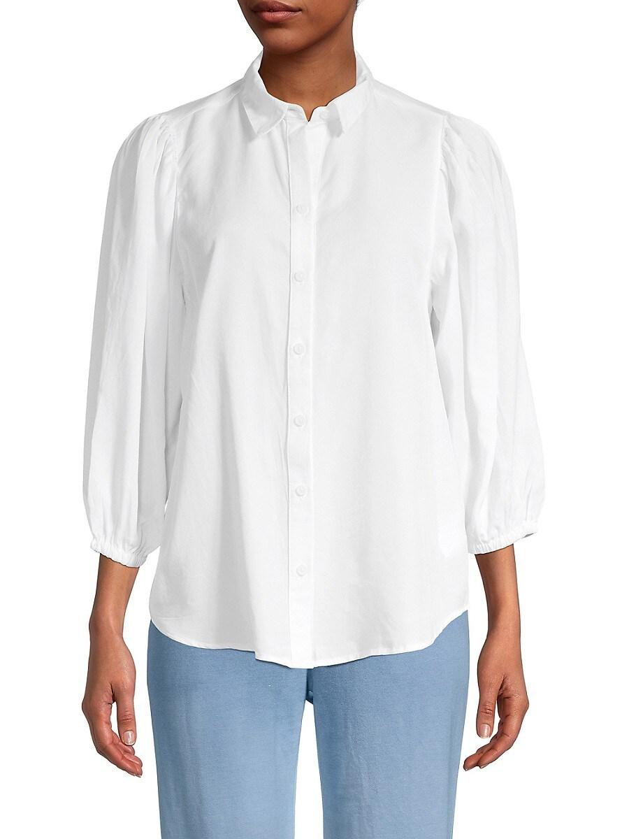 Beach Lunch Lounge Women's Isobel Puffed-Sleeve Shirt