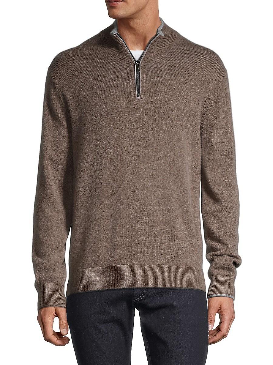 Men's Sebonack Wool & Cashmere Quarter-Zip Sweater