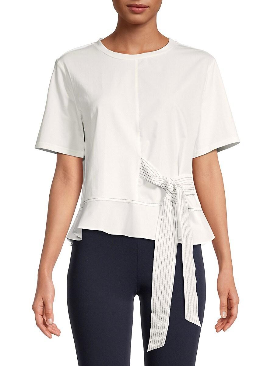 Women's Side-Tie Peplum Top