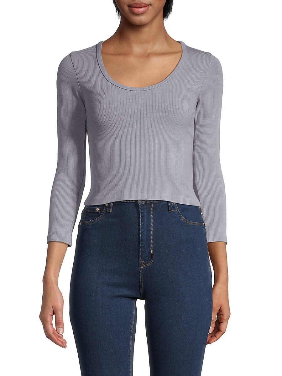 Women's Ribbed Cropped Top