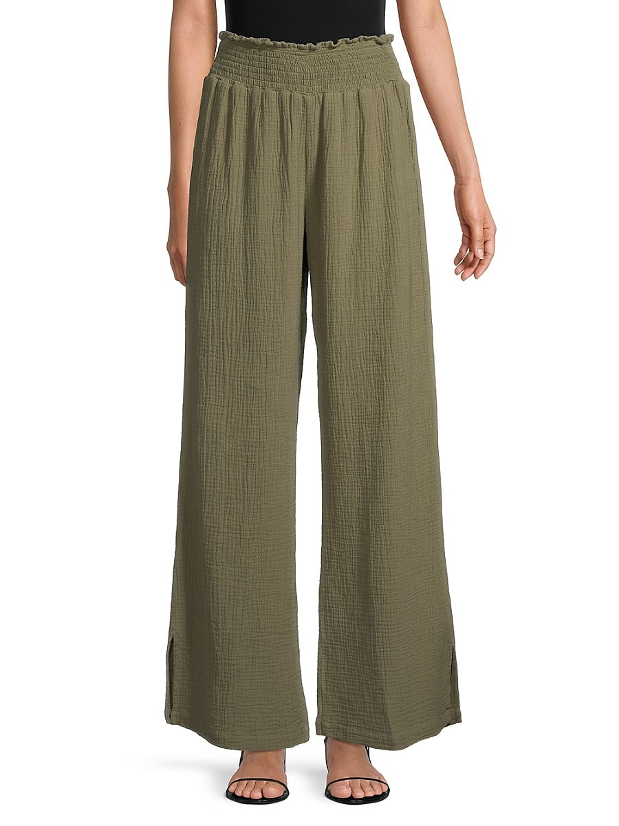 Heroes & Dreamers Textured Pull-On Pants - Army - Size L