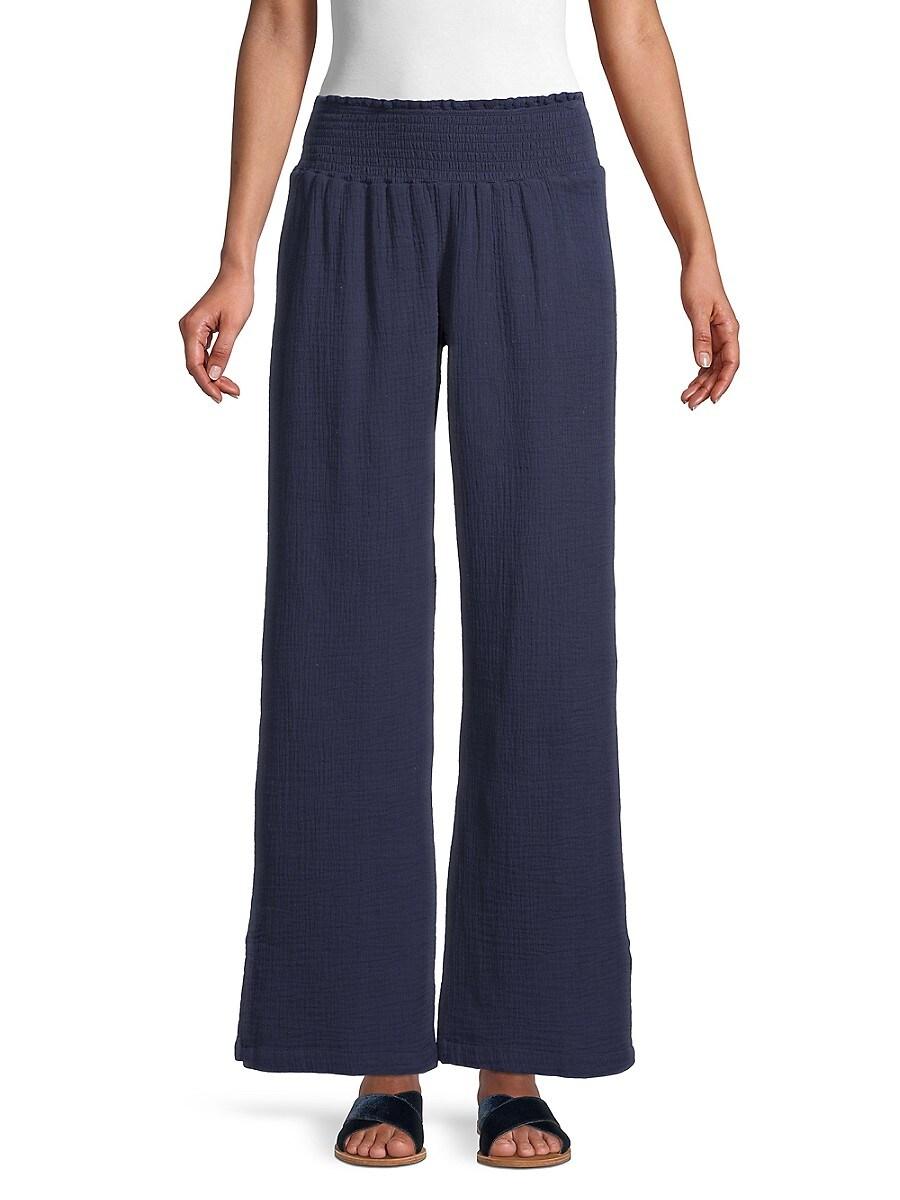 Textured Pull-On Pants