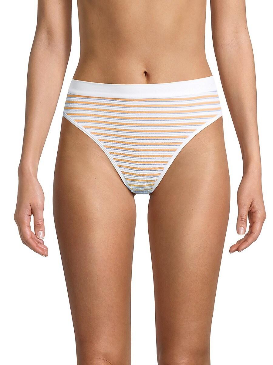 L*SPACE by monica wise Women's Frenchi Bitsy Striped Bikini Bottom