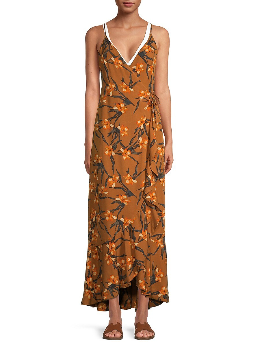 L*SPACE by monica wise Women's Floral-Print Wendy Dress