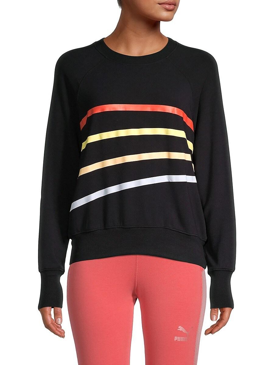 Women's Raglan-Sleeve Striped Sweatshirt