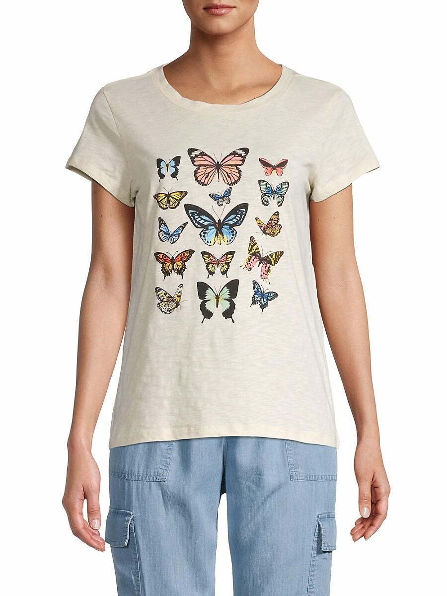 Women's Butterfly Scoopneck T-Shirt