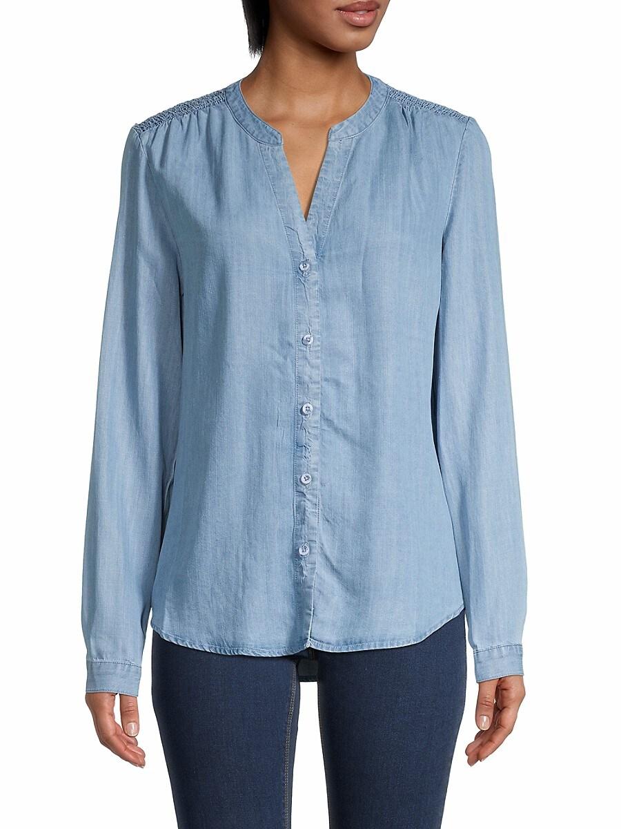 Women's Splitneck Chambray Shirt