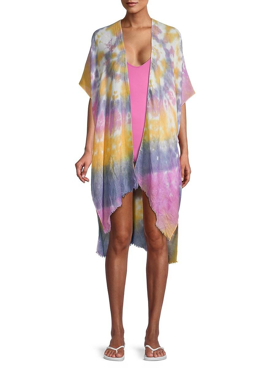 Women's Tie-Dyed Open-Front Kimono