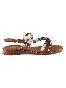 Pasha Studded Sandals,TAN