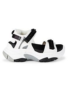 ASH Adapt Chunky Sneaker Sandals,WHITE BLACK