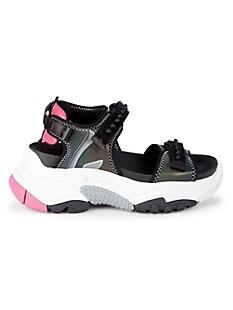 ASH Adapt Sandals,BLACK SILVER