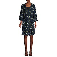 Sperry Floral A-Line Tiered Dress