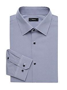 띠어리 Theory Cedrick Print Dress Shirt,NAVY