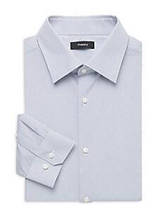 띠어리 Theory Cedrick Regular-Fit Shirt,BLUE