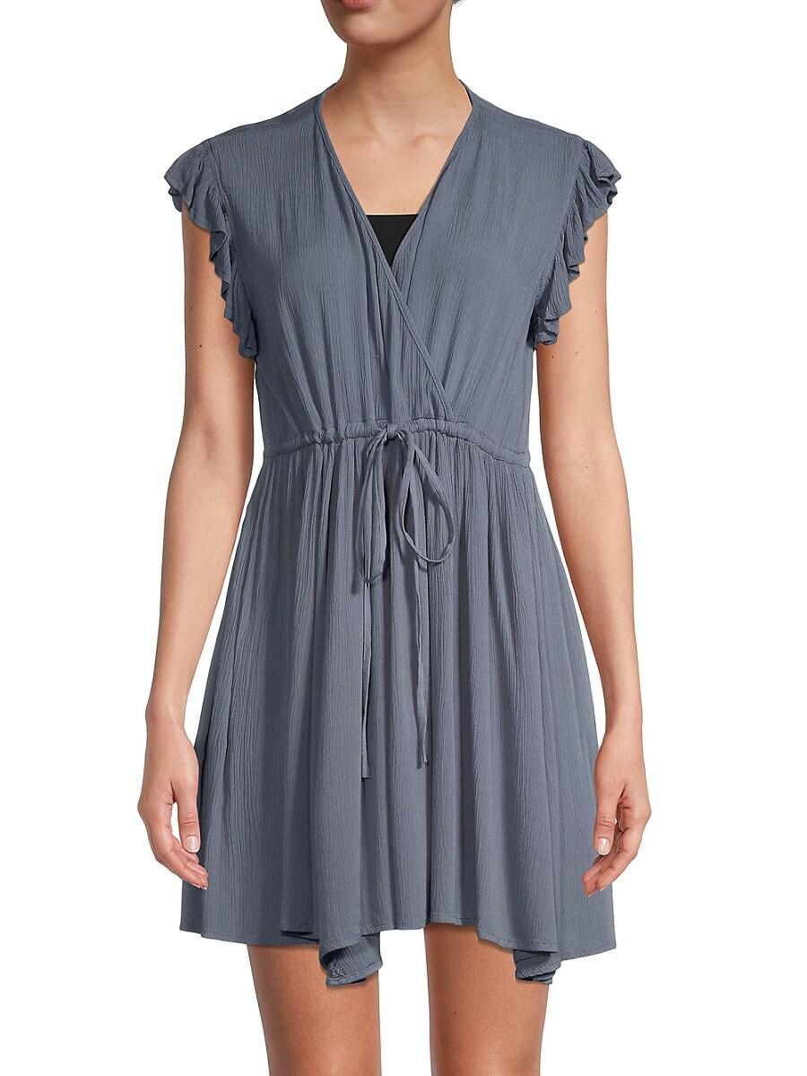 Women's Crinkle-Texture Mini Dress