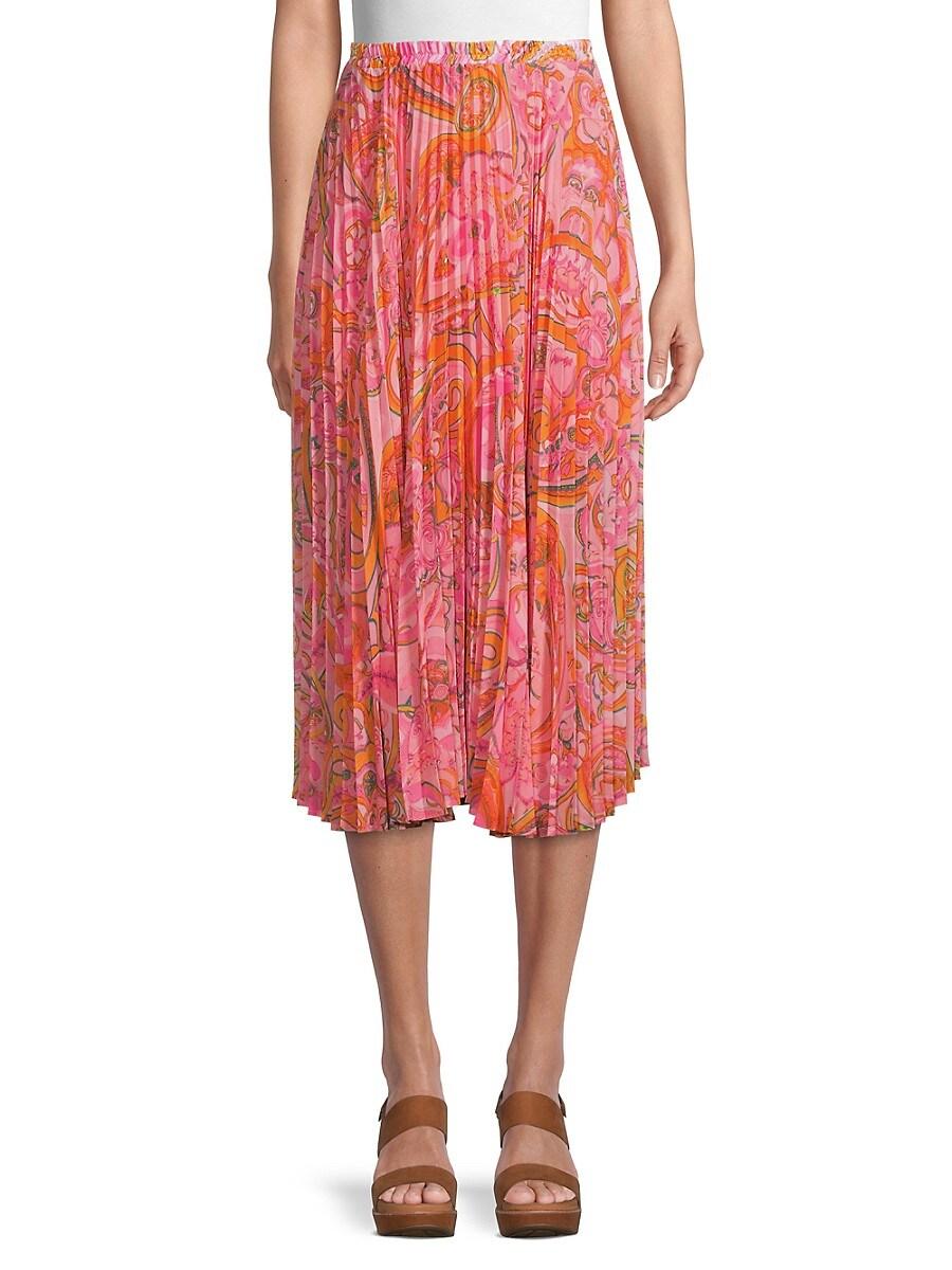 Women's Lilah Paisley Pleated Skirt