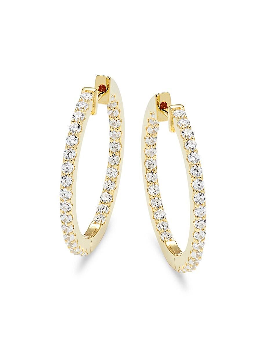 Simulated Diamond Hoop Earrings