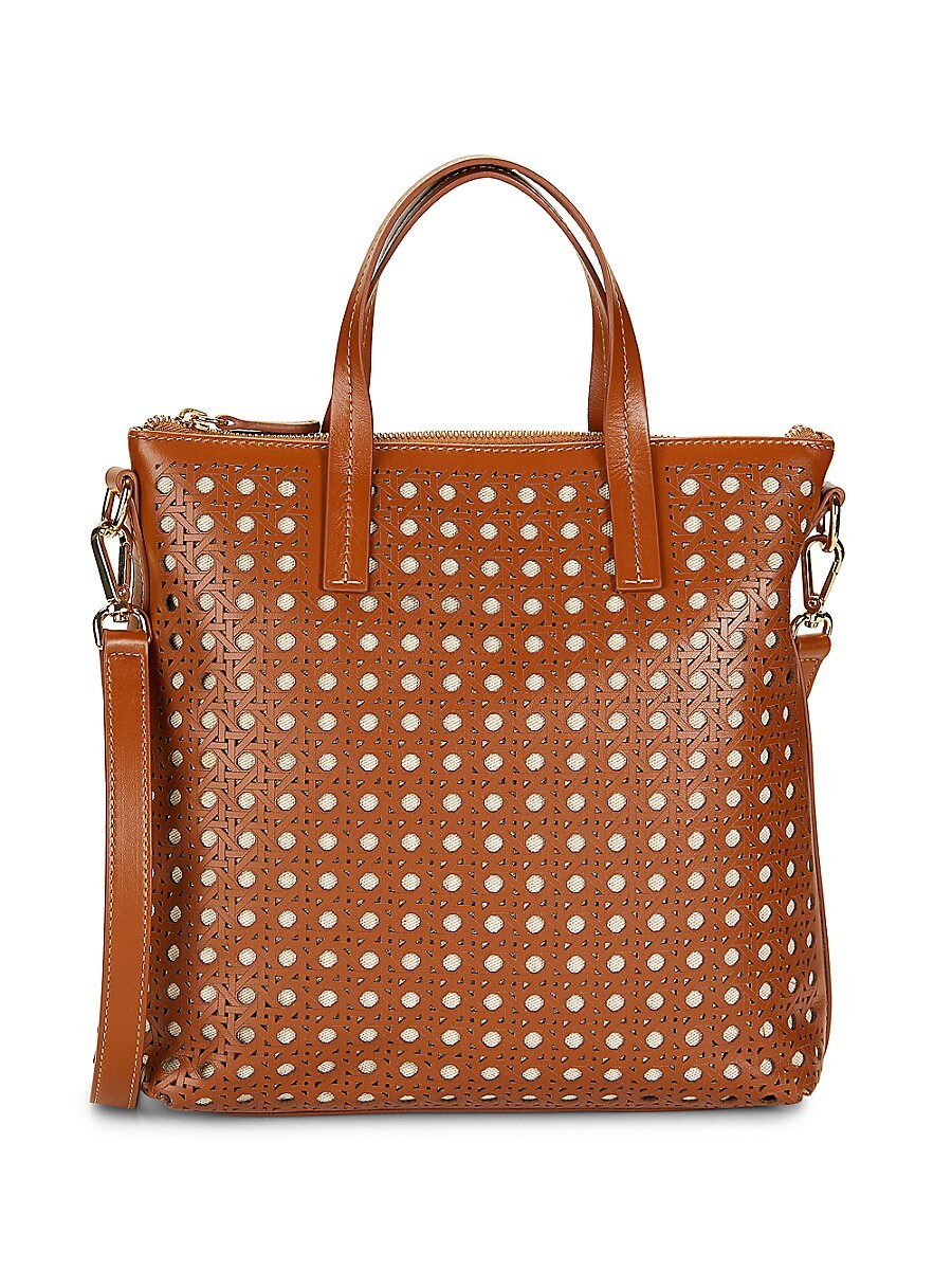 Women's Hillside Perforated Leather Tote