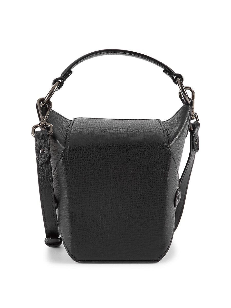 Jeff Wan Women's Lunch Box Leather Crossbody Bag - Black