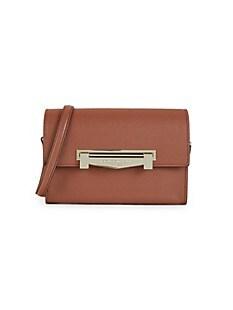 브루노 말리 시계 Bruno Magli Leather Flap-Top Crossbody Bag,SIENNA