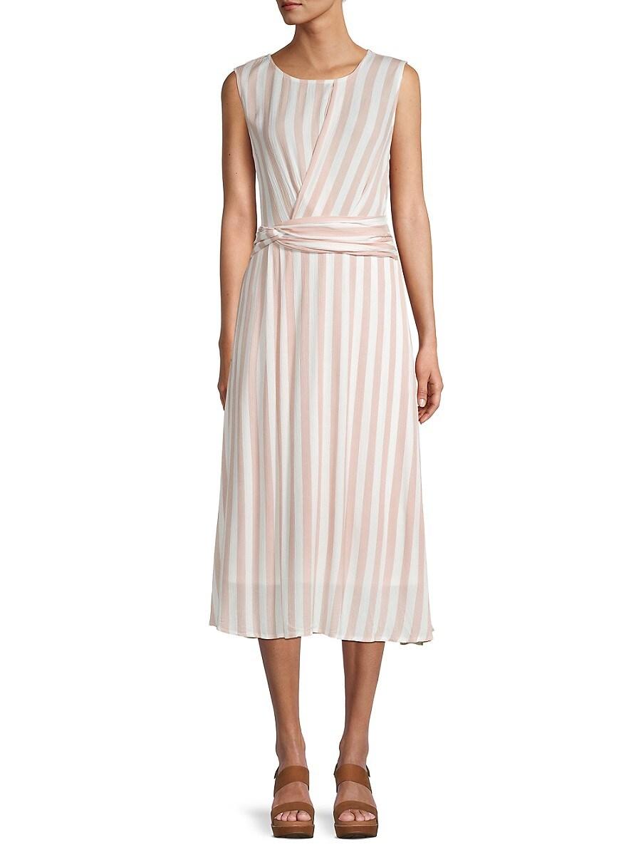 Women's Striped Belted Dress