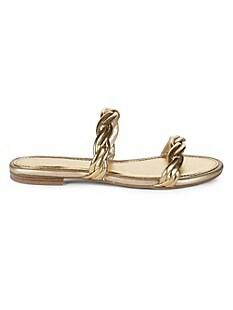 서커스 바이 샘 에델만 Circus by Sam Edelman Cybil Faux Leather Sandals,GOLD
