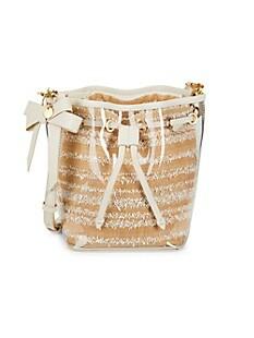잭 잭 포즌 Zac Zac Posen Clear Drawstring PVC Crossbody Bag,NATURAL