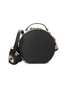잭 잭 포즌 Zac Zac Posen Belay Leather Drum Bag,BLACK