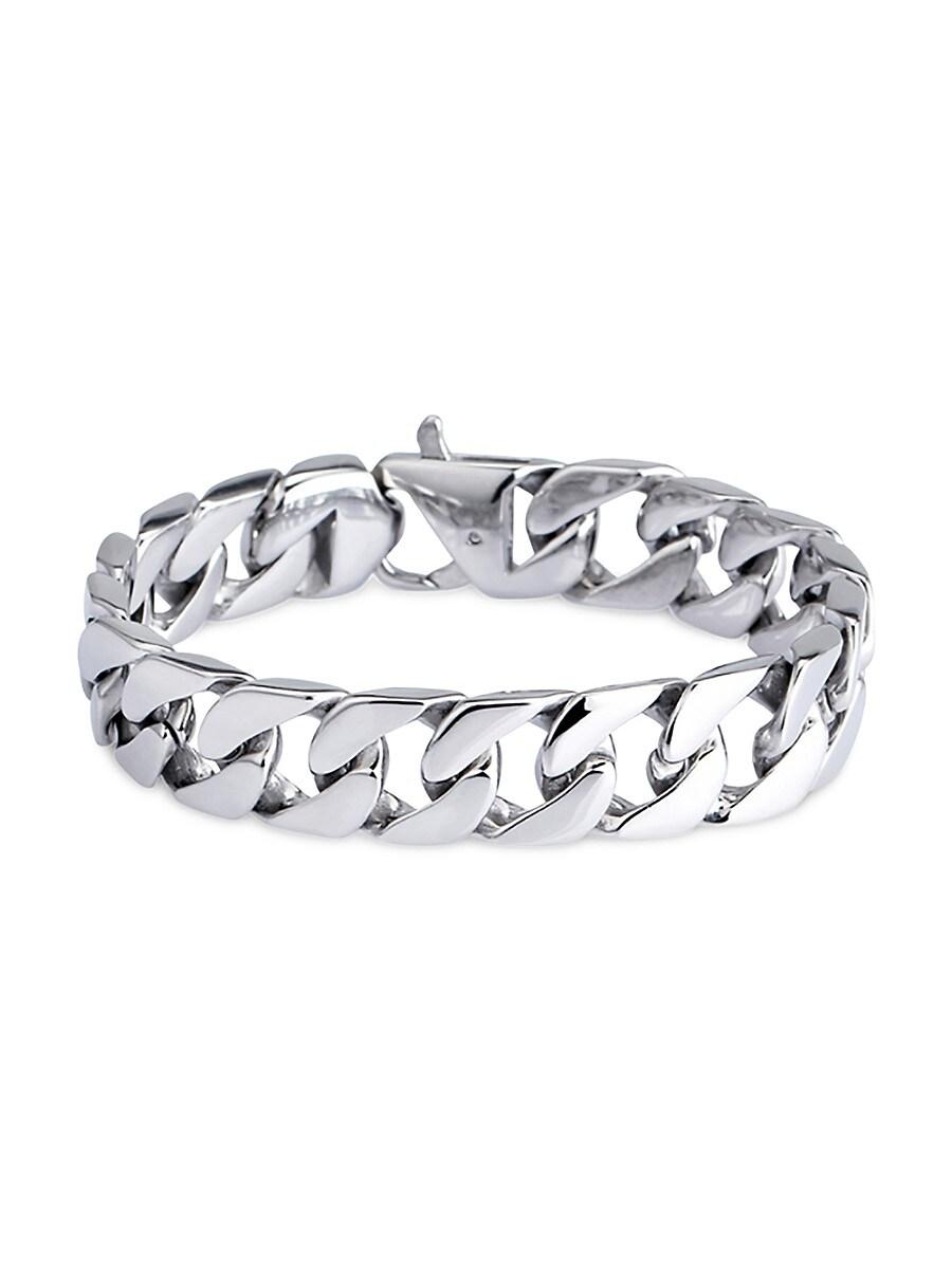 Women's Luxe Silvertone Cuban Link Bracelet