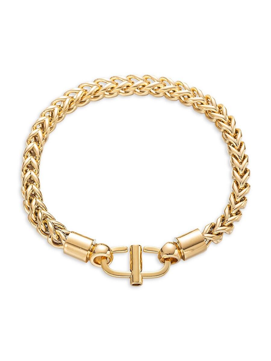 Women's Luxe 18K Goldplated Titanium Braided Bracelet