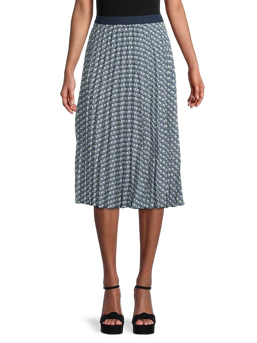 Women's Print Pleated Skirt