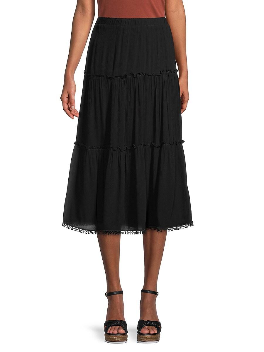 Women's Tiered Crinkle Skirt