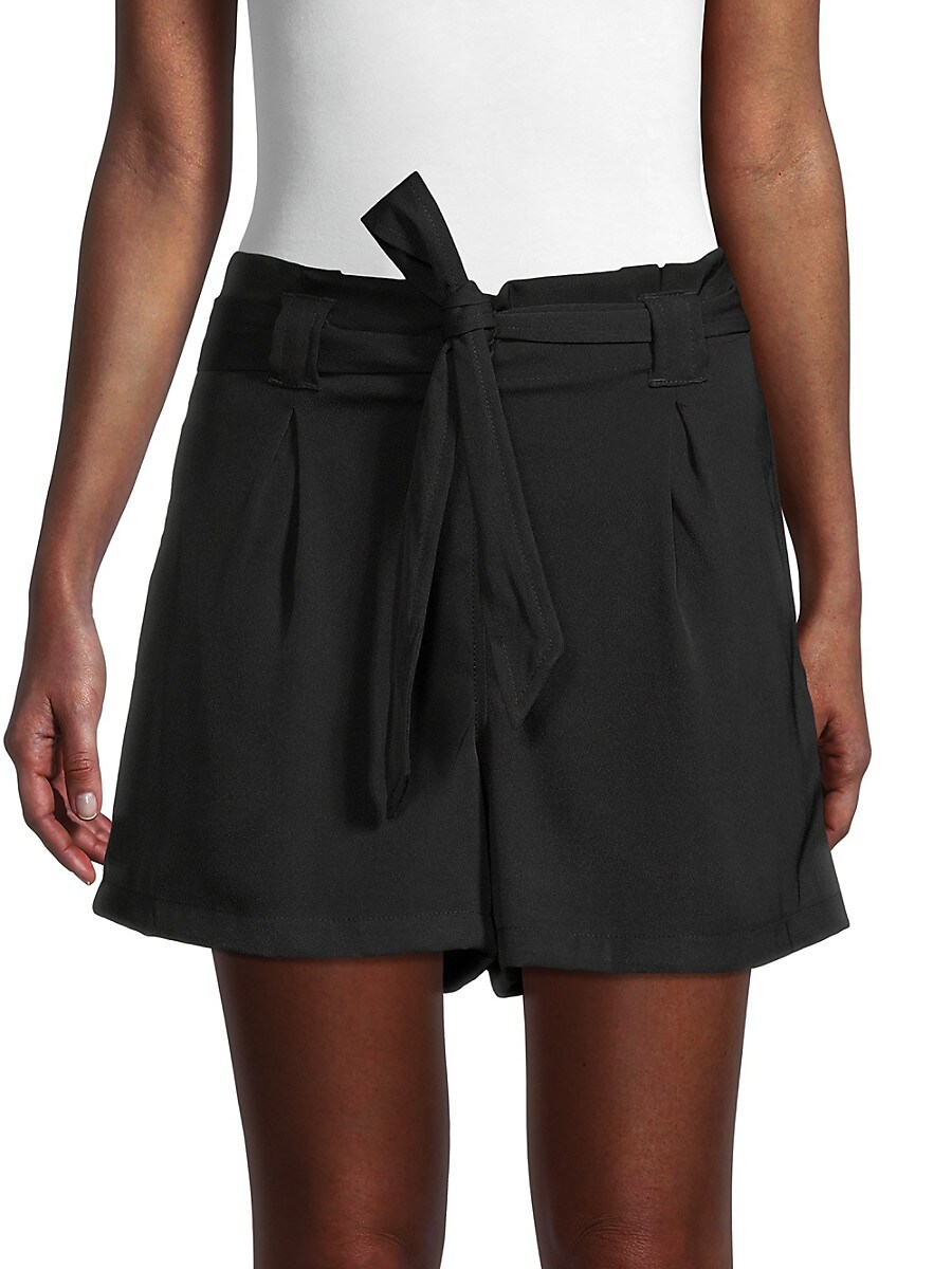 Women's Belted Paperbag Shorts