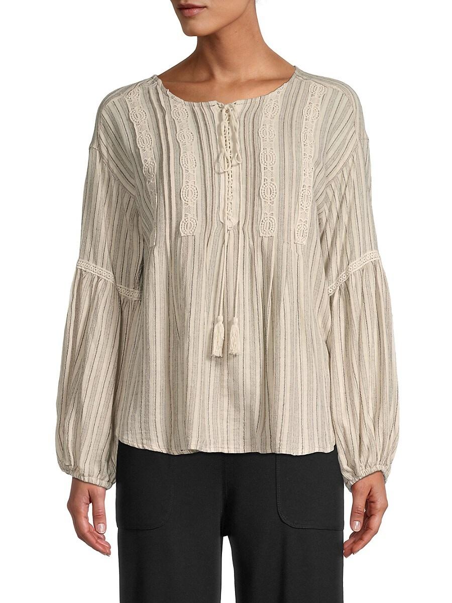 Women's Pintuck Striped Top