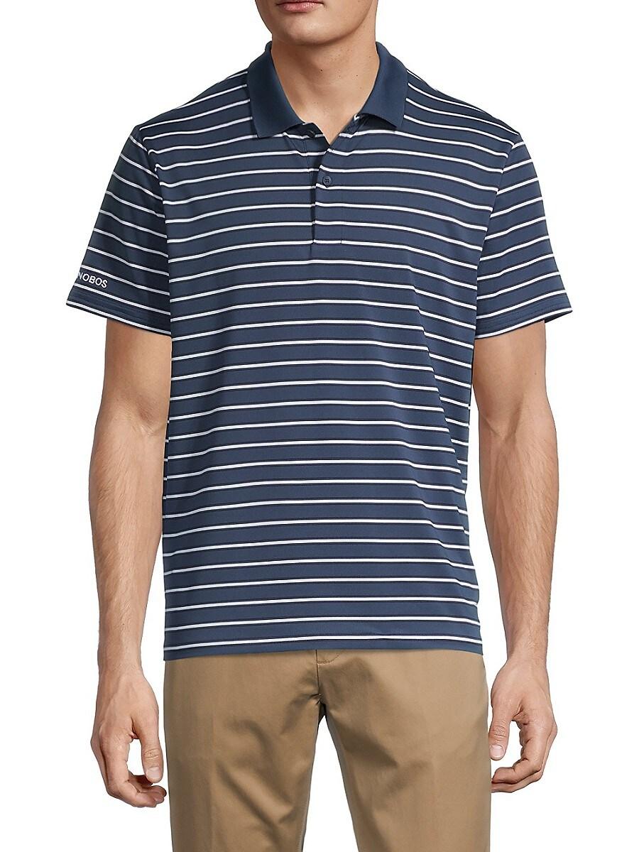 Men's Striped Golf Polo