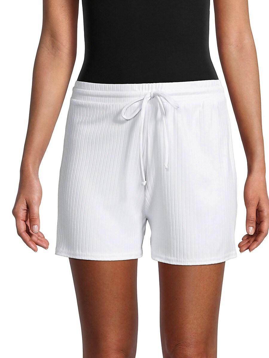 Women's Ribbed Drawstring Shorts
