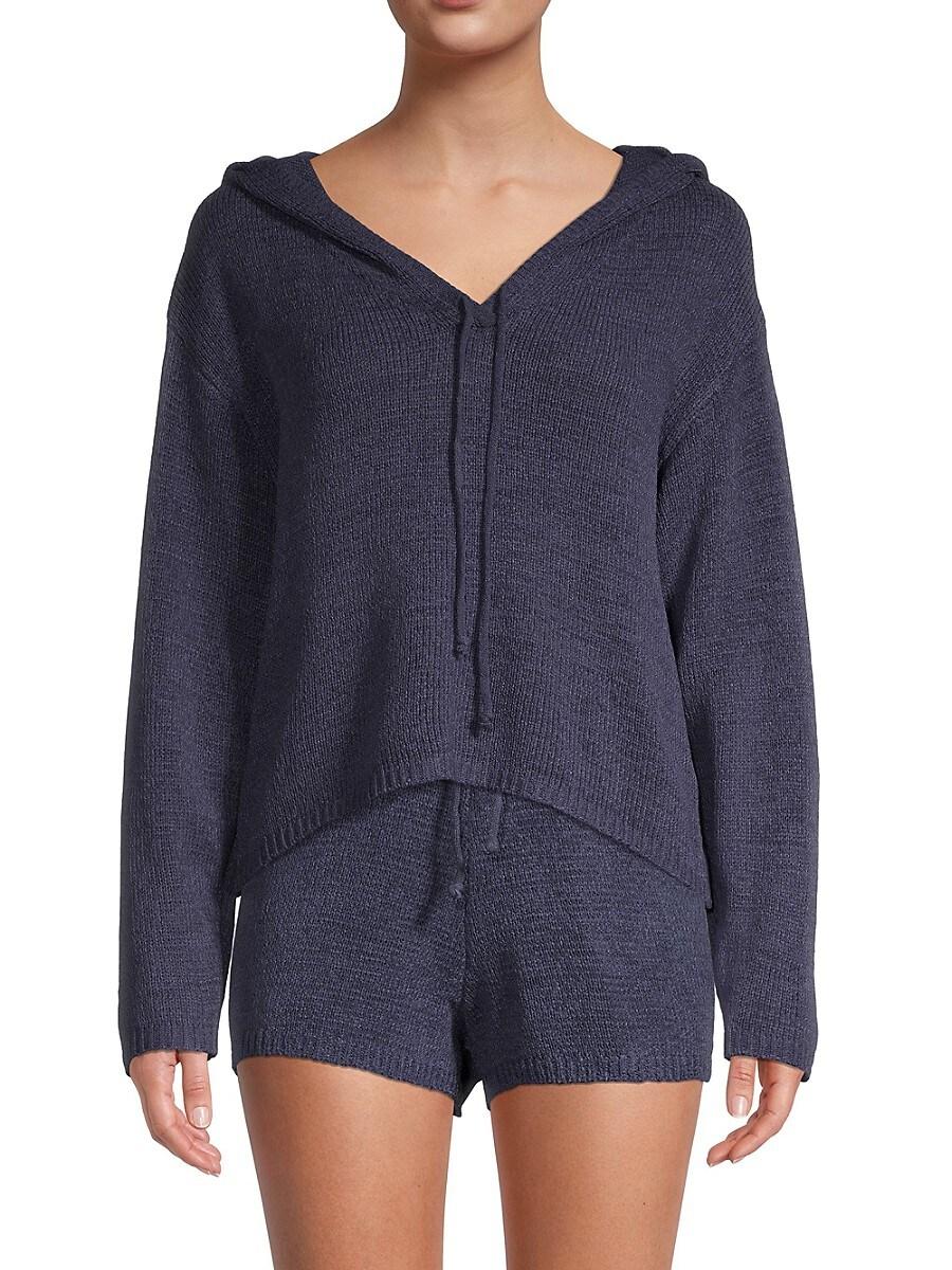 Women's Textured Knit Hoodie