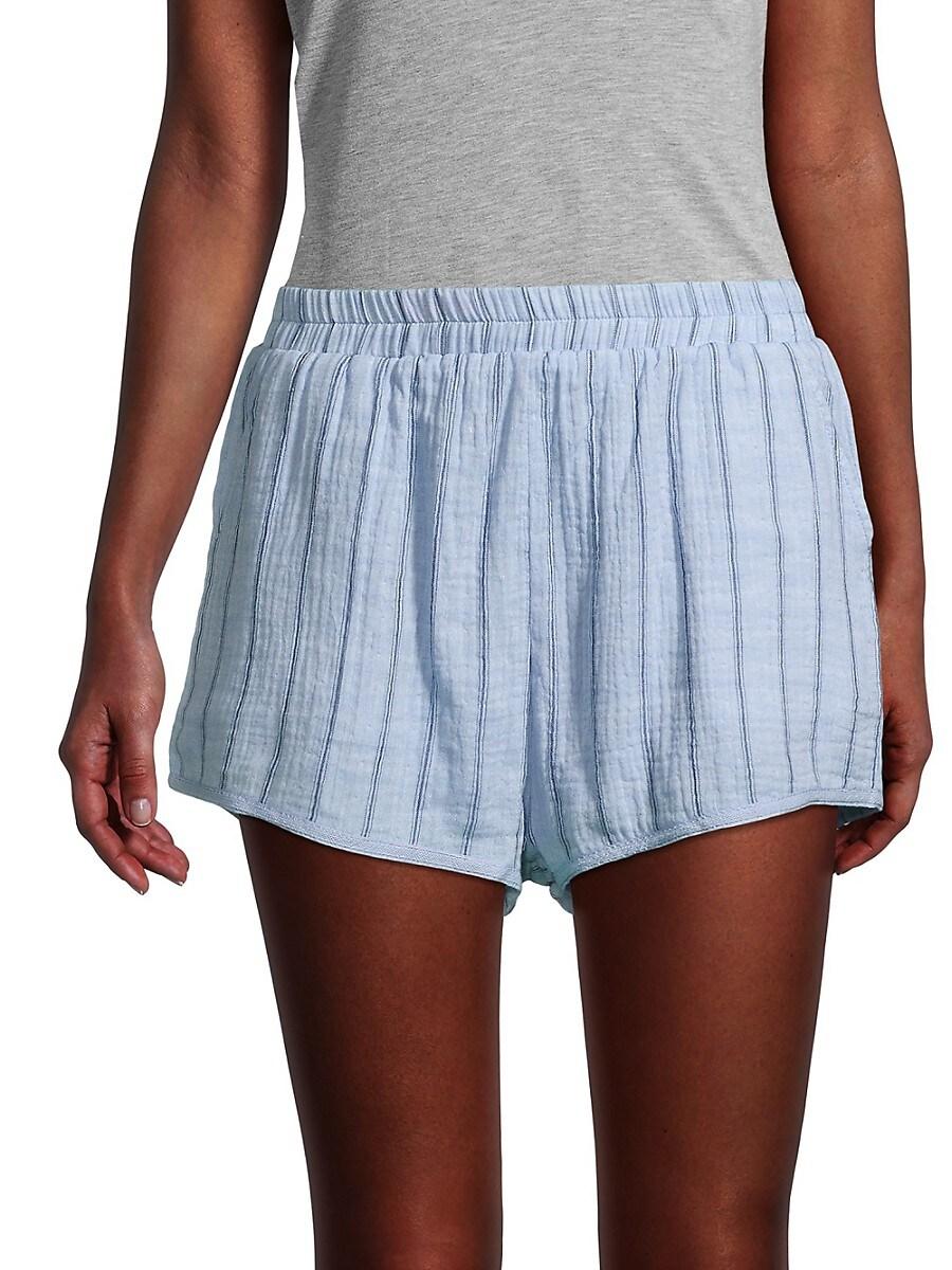 Women's Striped Cotton Shorts