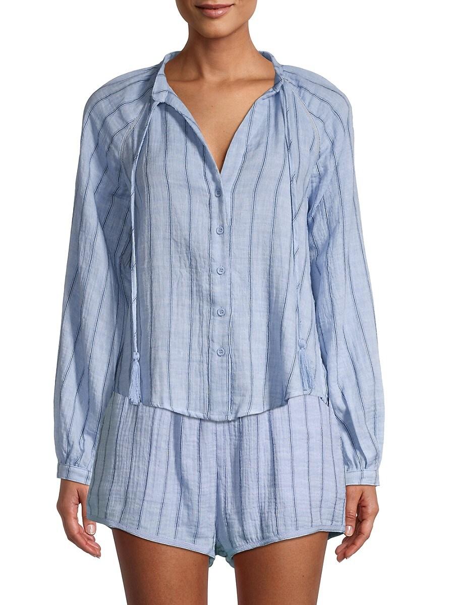 Women's Striped Cotton Blouse