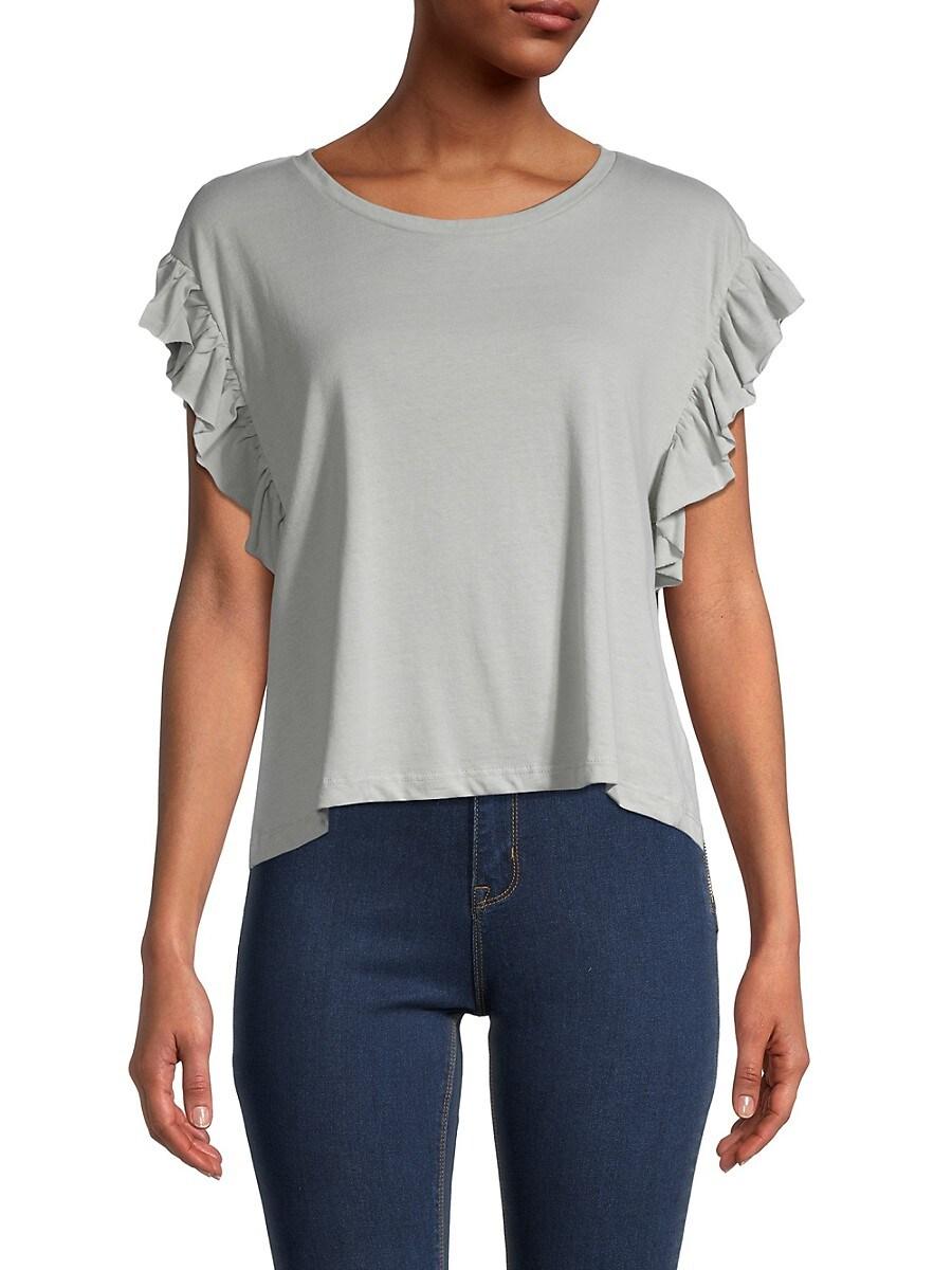 Women's Ruffle-Sleeve Top