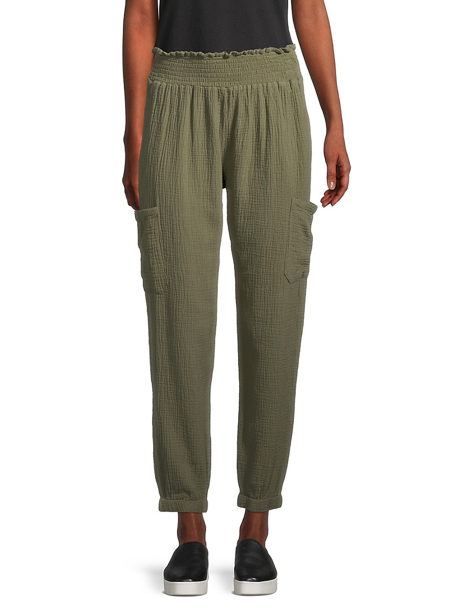 Women's Crinkle Tapered Pants