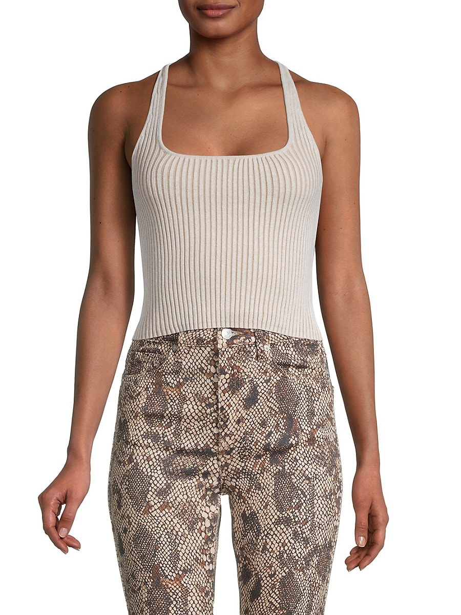 Women's Ribbed Cropped Cami Top