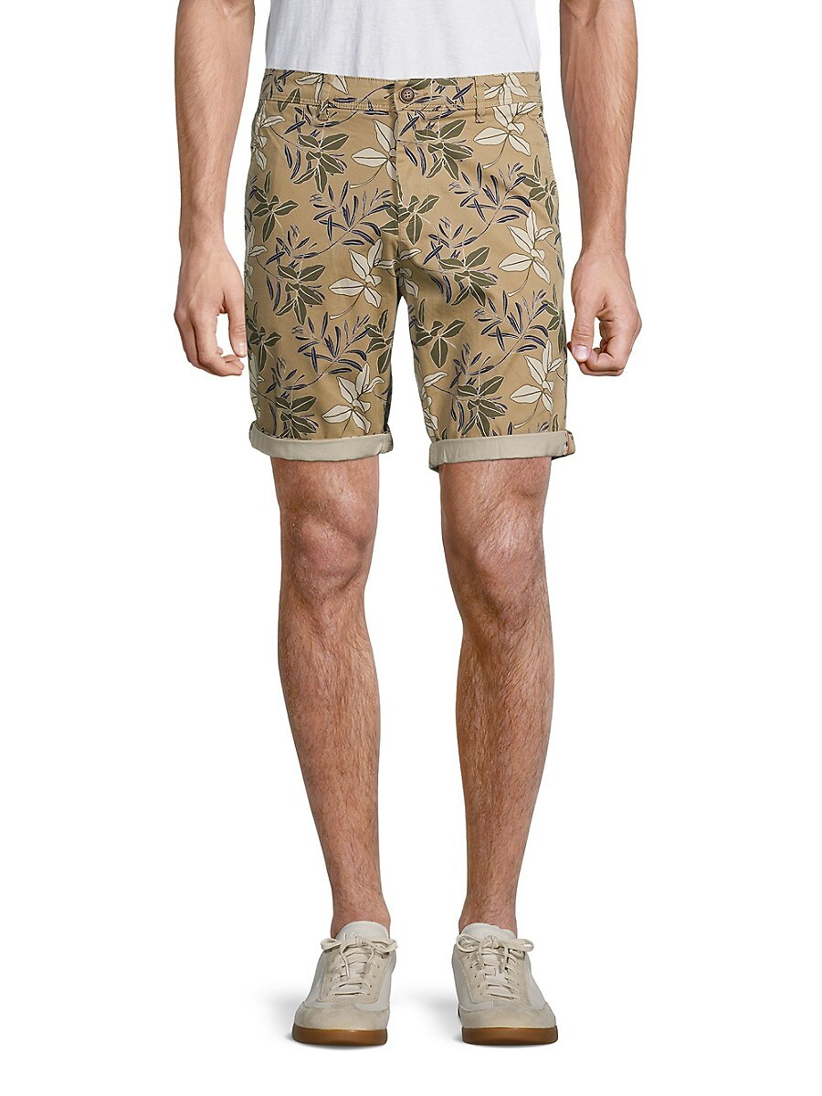 Men's Floral-Print Cuffed Shorts