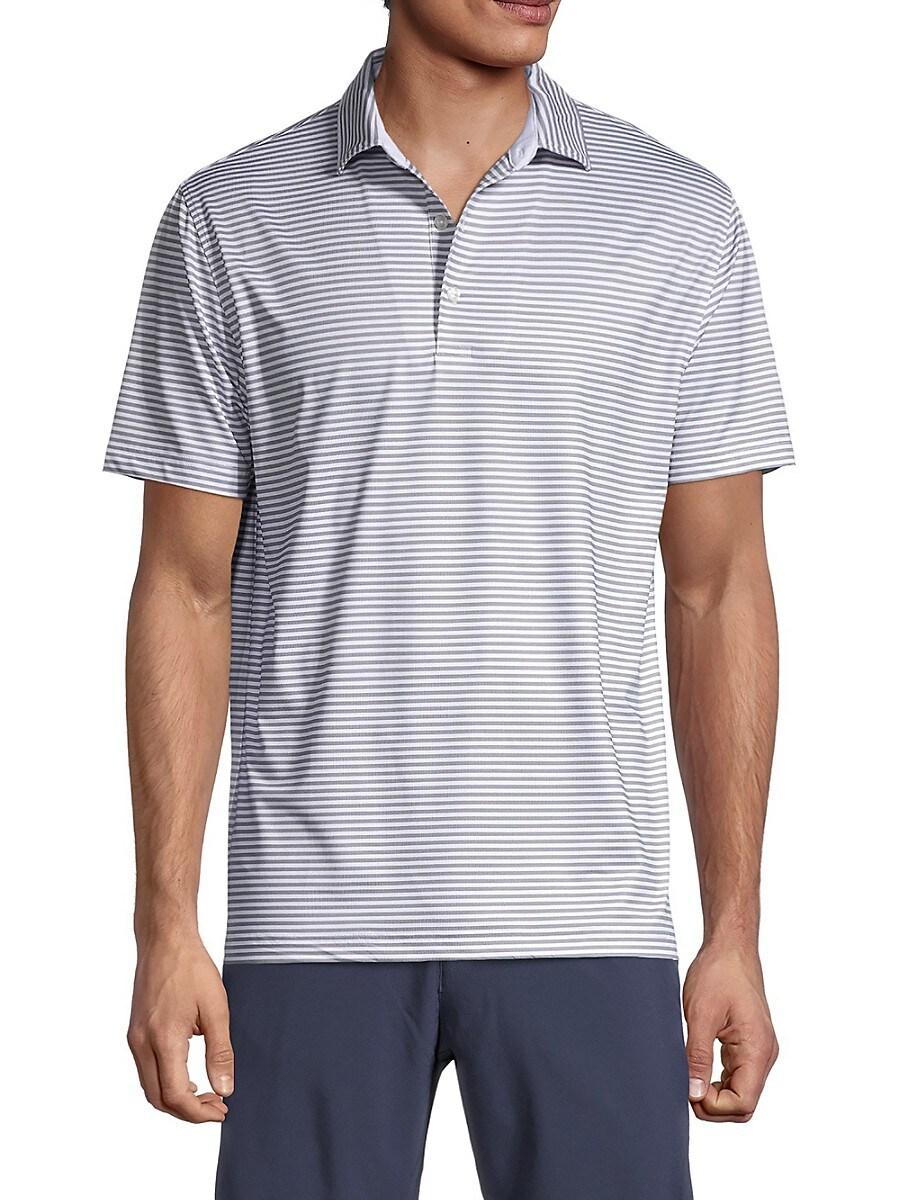 Men's Striped Regular-Fit Polo