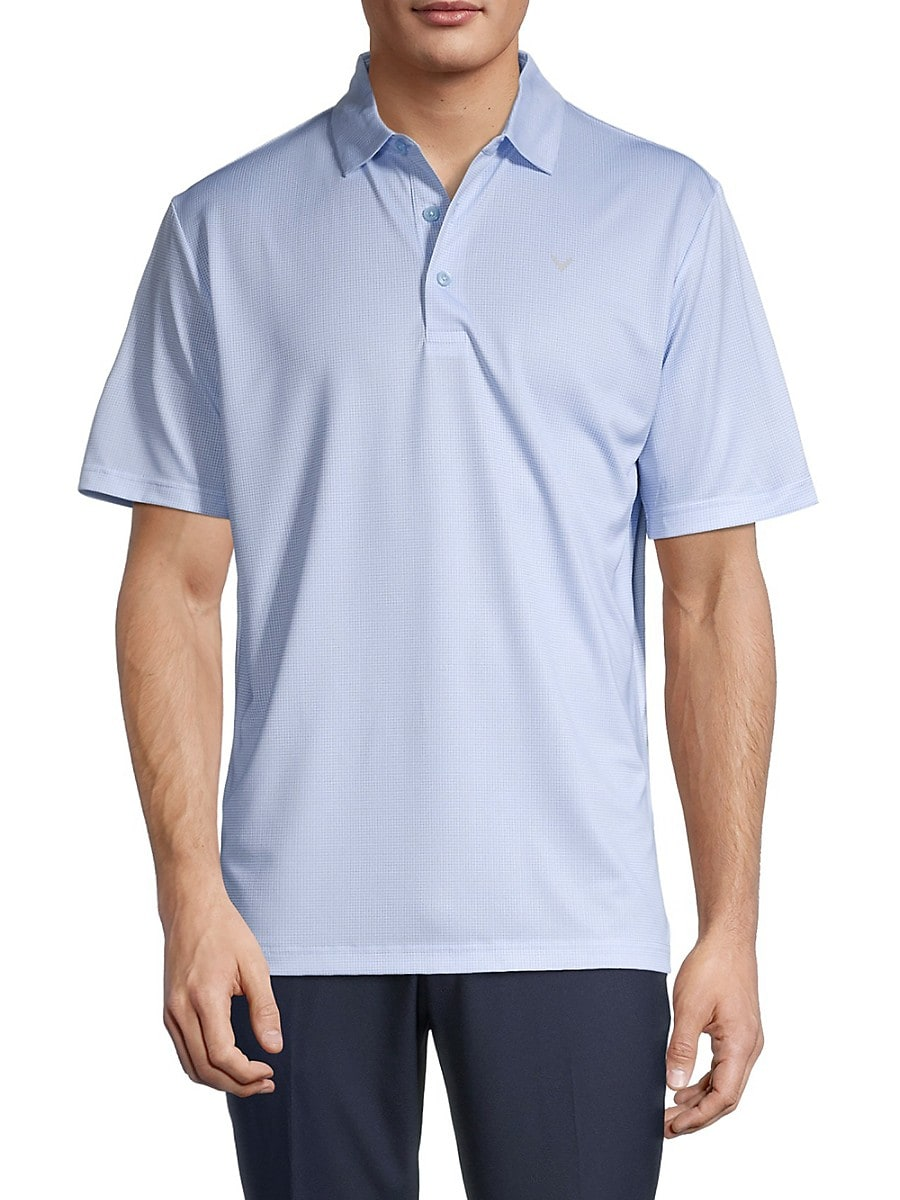 Men's Solid Short-Sleeve Polo