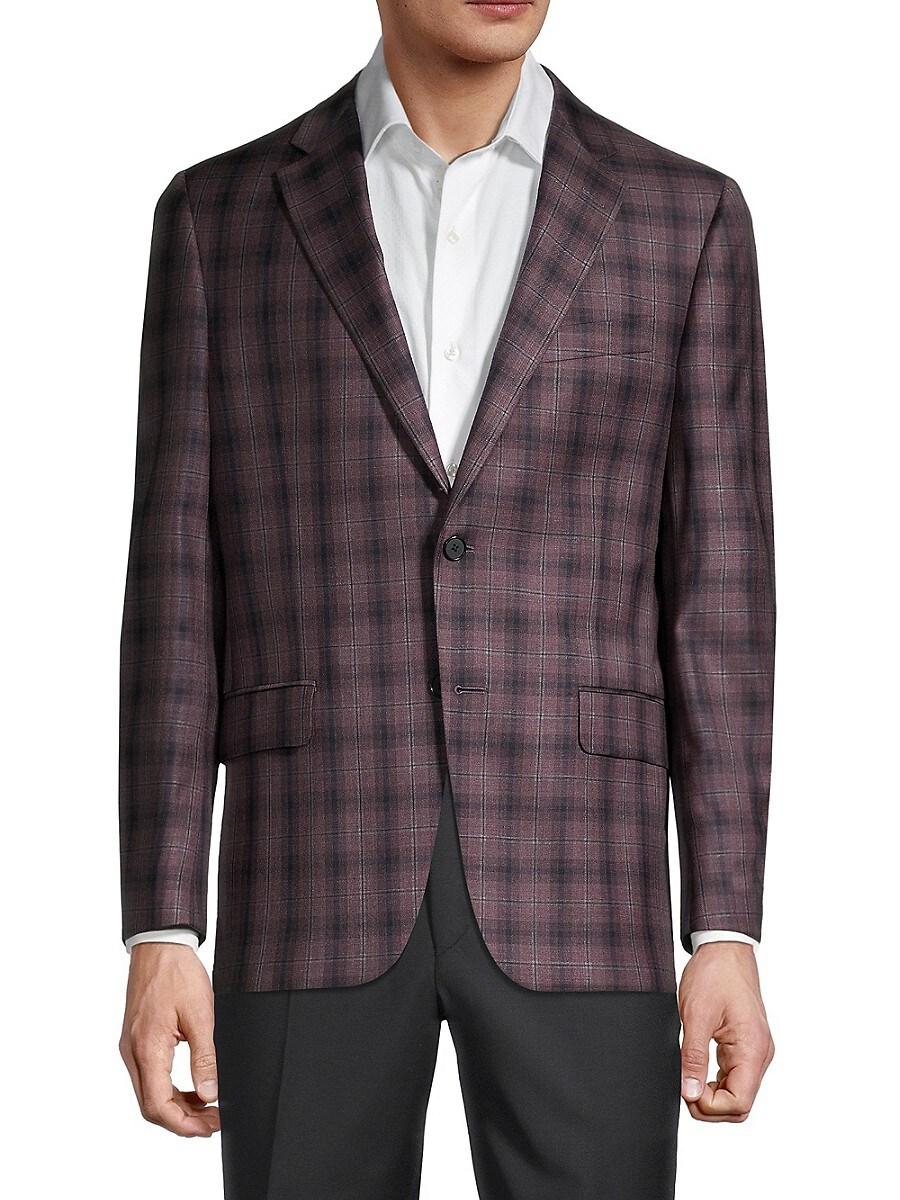 Men's Milburn II Regular-Fit Check Wool Sportcoat